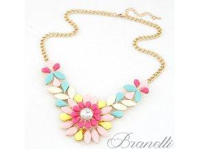 Náhrdelník Letní barevná květina