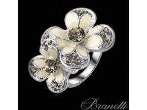 Prsten Krémové květiny S