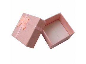 Světle růžová krabička s mašlí | Korálky Branelli