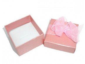 Světlounce růžová krabička s mašličkou | Korálky Branelli