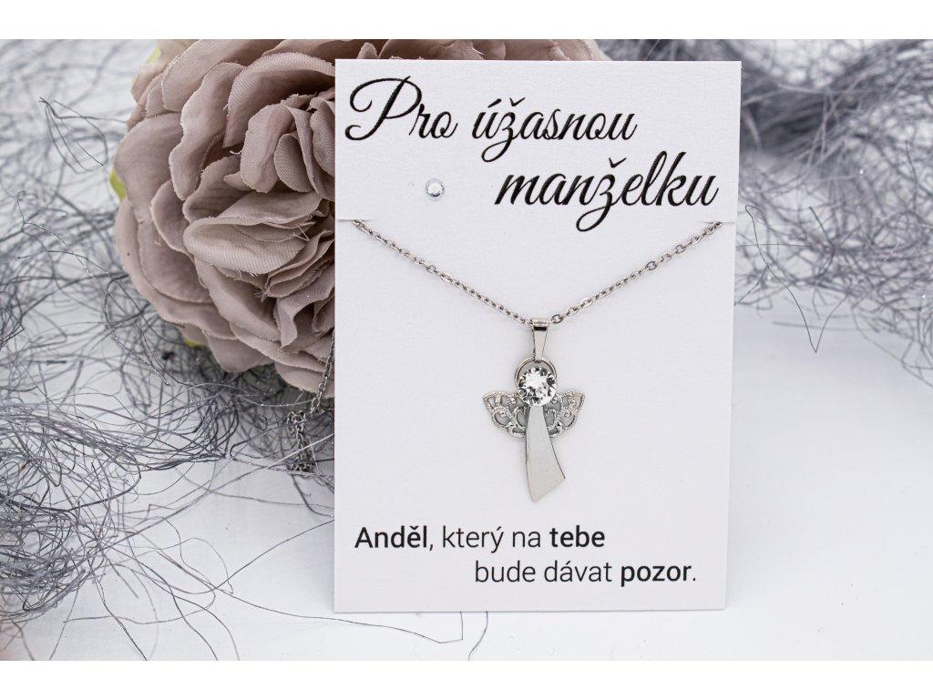 Náhrdelník Strážný anděl MANŽELCE
