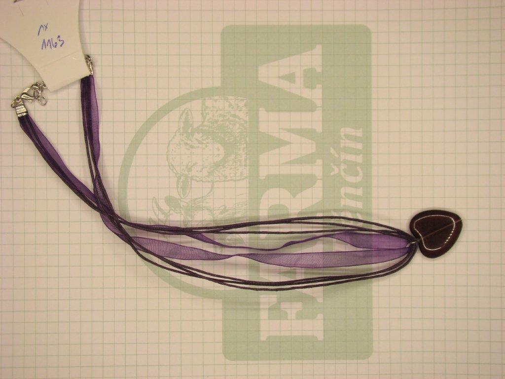 Srdíčko tmavě-fialovo-fialové