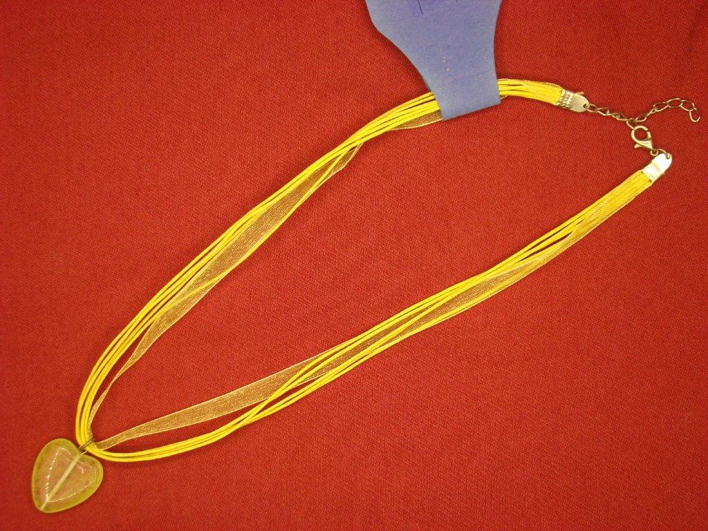 Srdíčko žluto-zelené mat