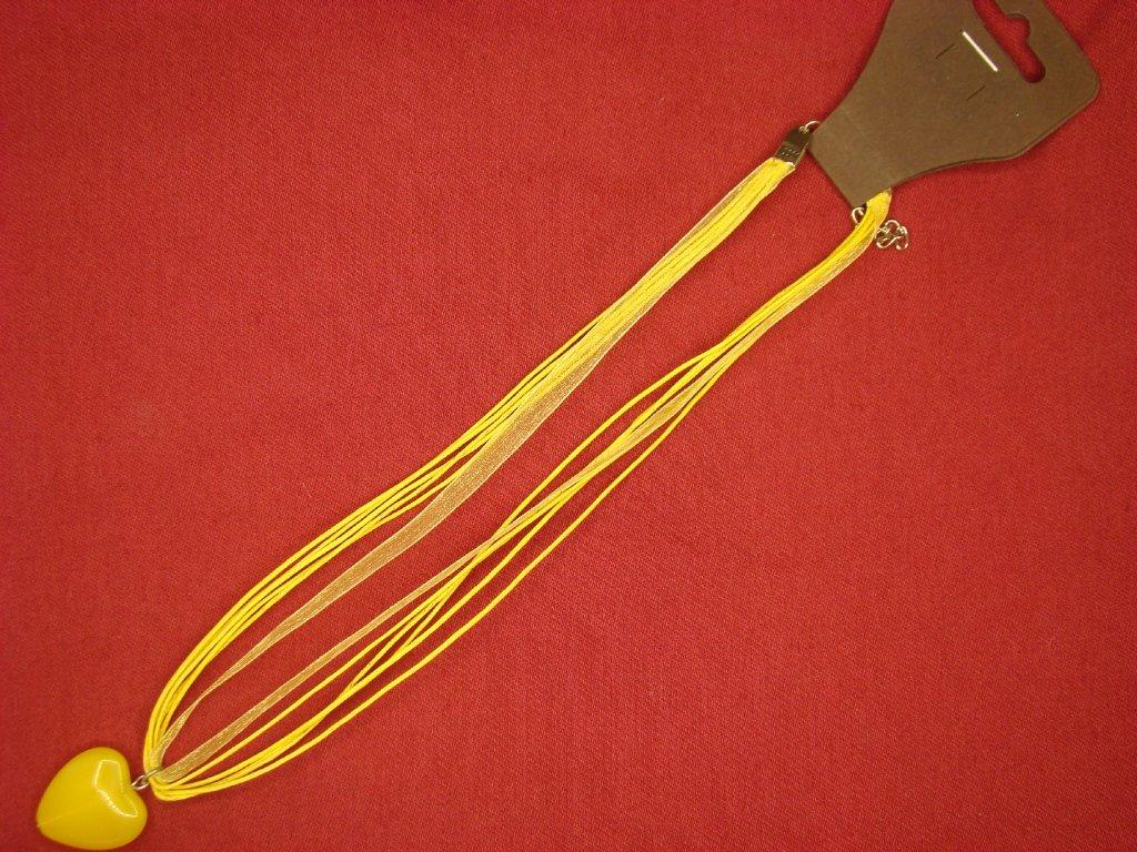 Srdíčko žluto-žluté mat