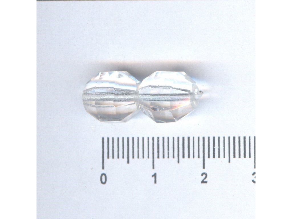 Broušené korále tvarové 10x10 00030