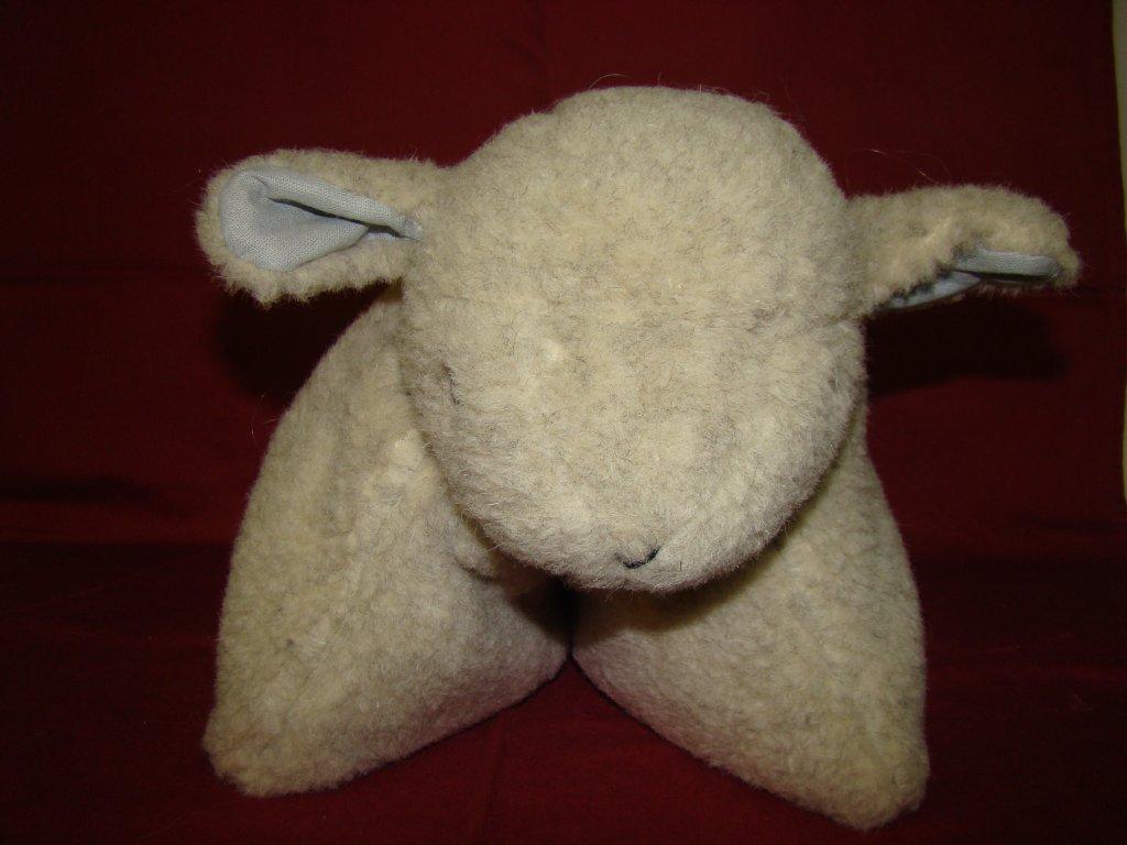Skládací polštářek - ovečka Gusta - šedý