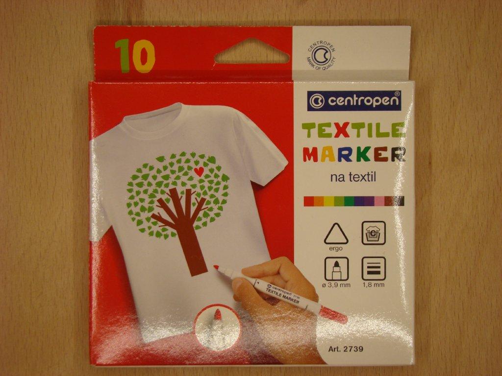 Značkovač Centropen 2739 na textil - sada 10 ks
