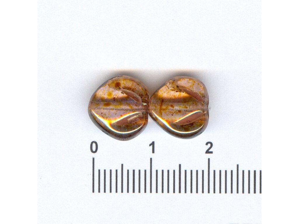 Mačkané korále tvarové 10x11 00030/65491