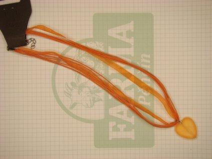 Srdíčko oranžovo-oranžové mat