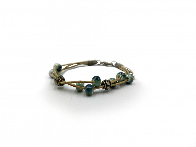 Blue Beads náramek