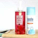 Recenze na dvoufázové čistění od blogerky Drews Beauty