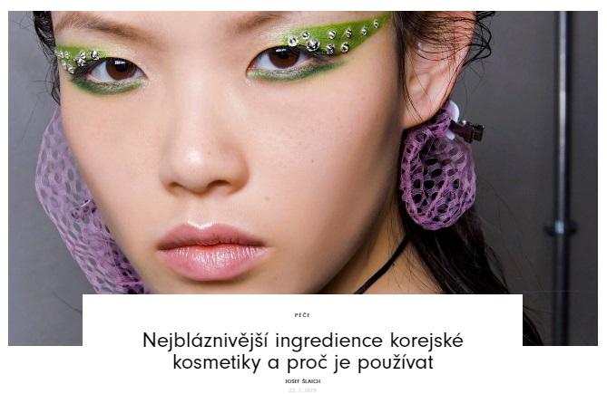 Vogue CS - Nejbláznivější ingredience korejské kosmetiky a proč je používat