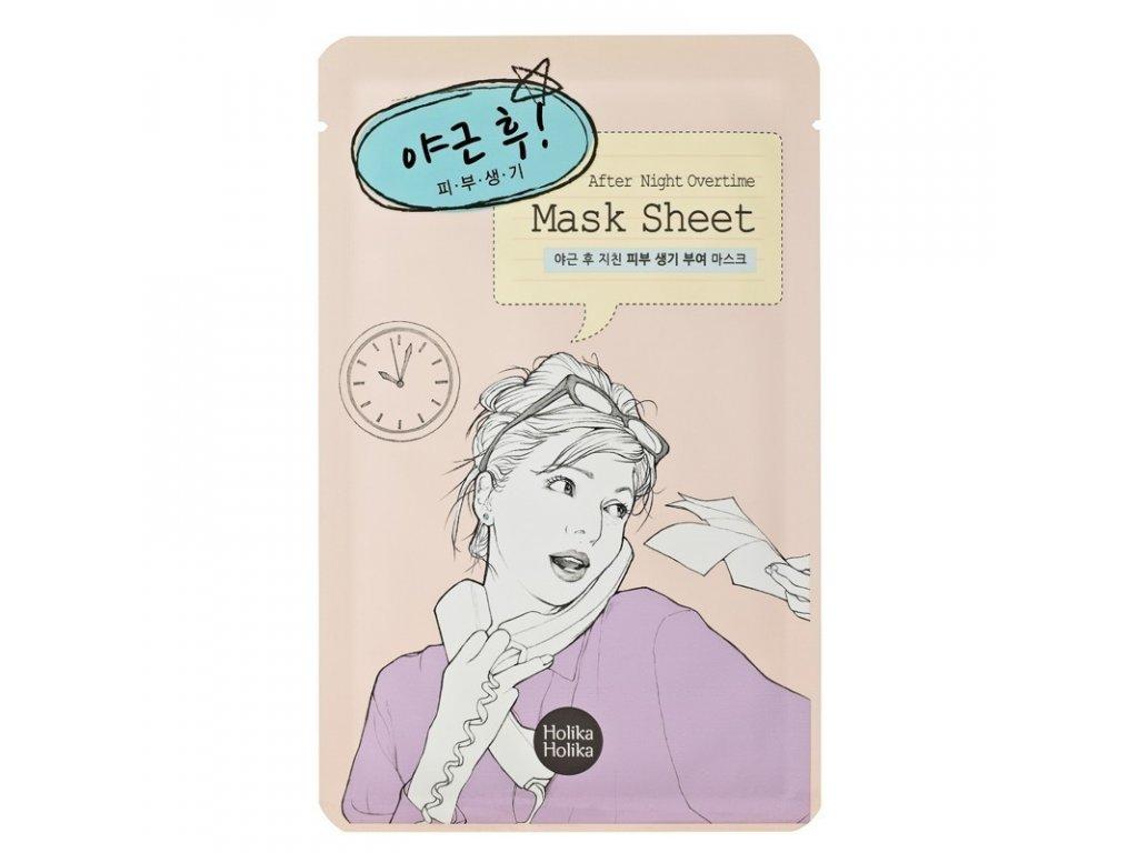 after mask sheet after working overtime
