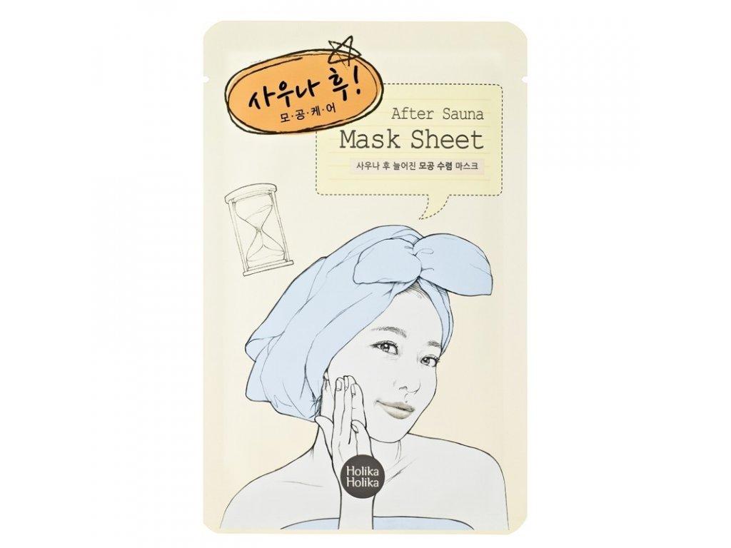 after mask sheet after sauna
