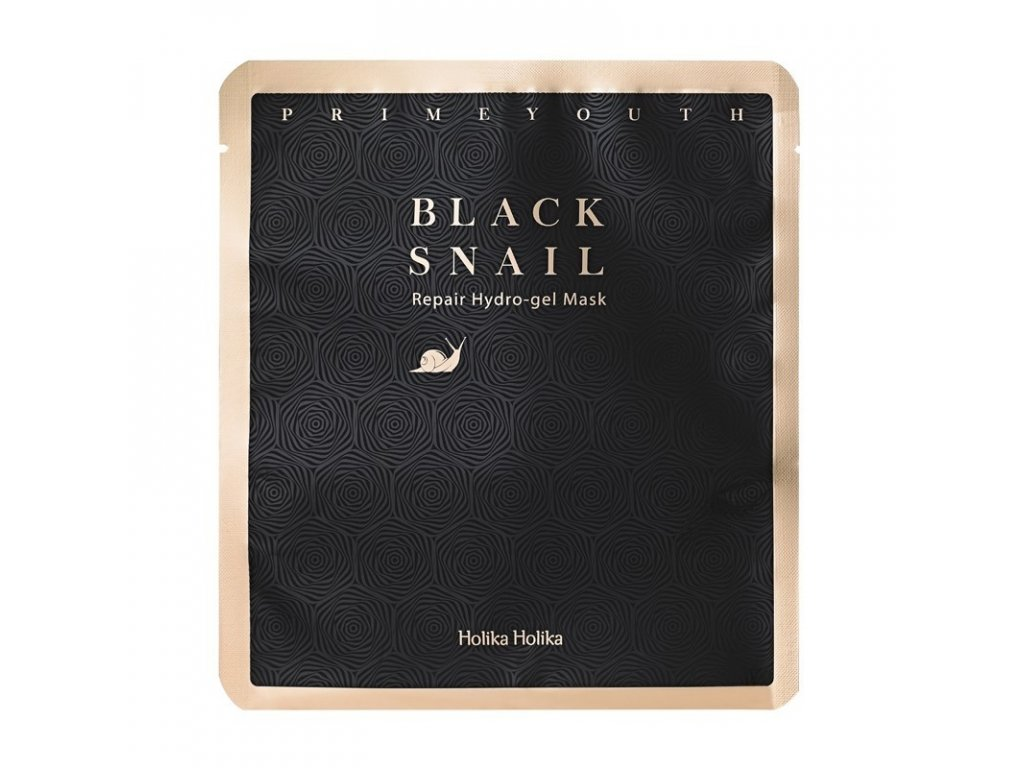 prime youth black snail repair hydro gel mask