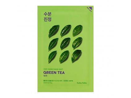 Hydratační plátýnková maska Pure Essence Zelený čaj