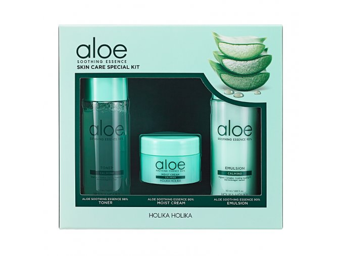 naohoolduskomplekt aloe soothing essence skin care special kit
