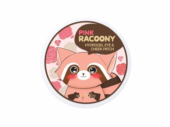 Pink Racoony Hydrogel Eye & Cheek Patch - Hydrogelové náplastí na oční okolí a tváře Růžový mýval