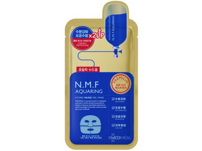 mediheal nmf aquaring hydro nude gel mask