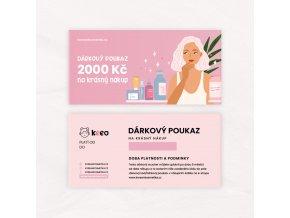 Darkový poukaz 2000 Kč.