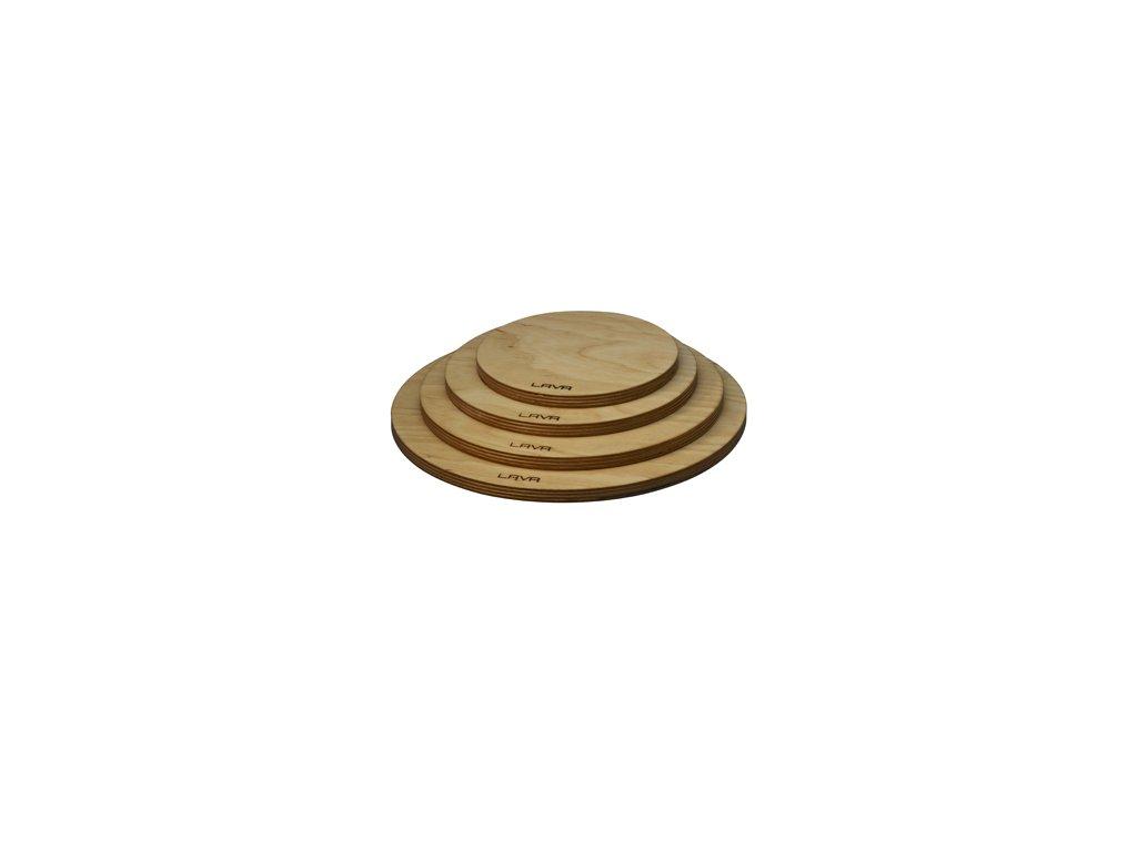 Dřevěné prkénko pod hrnec 20 cm - magnetické