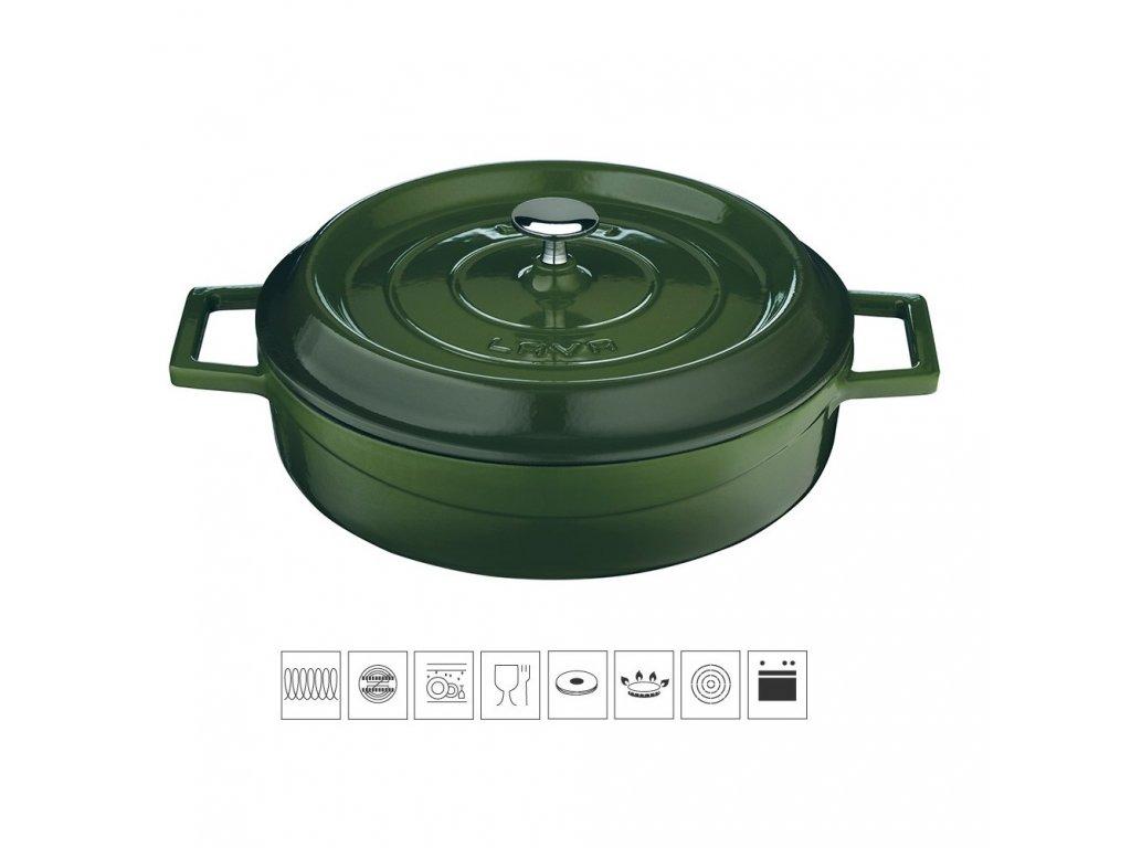 litinovy kastrol zeleny0