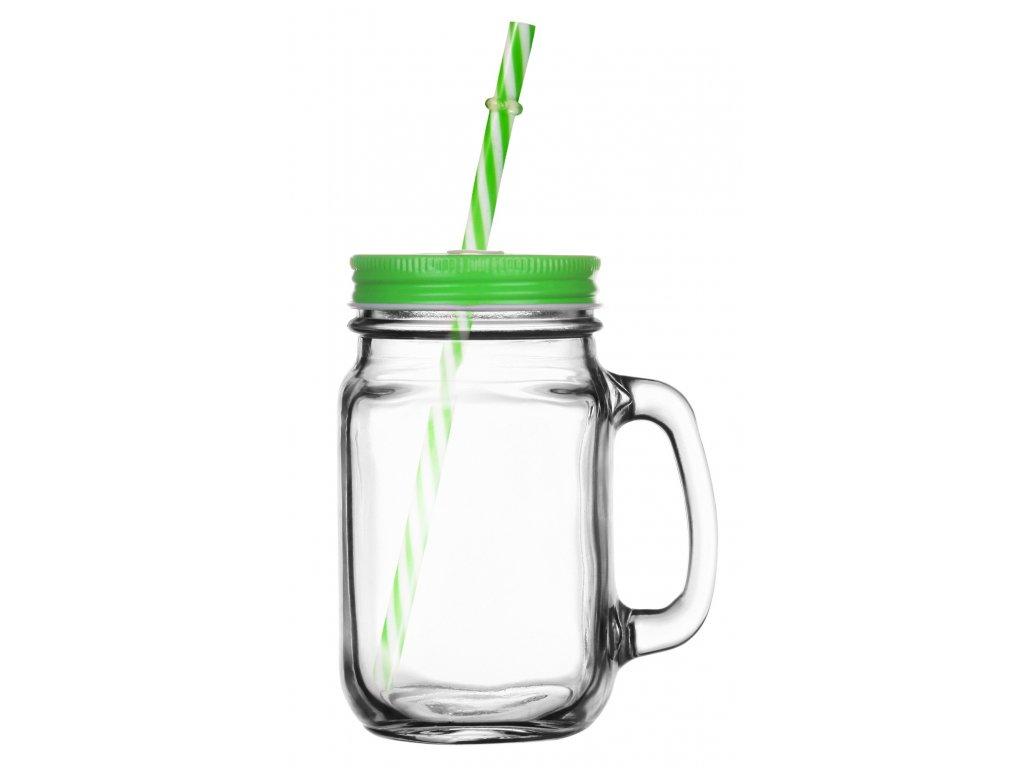 sklenice zelena