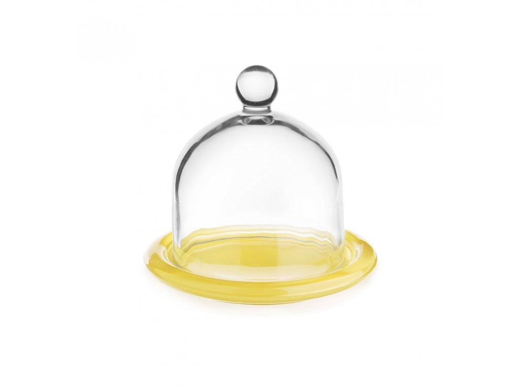 Dóza na citron s poklopem/žlutý talířek