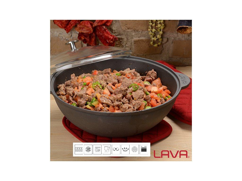 wok s poklici 30cm