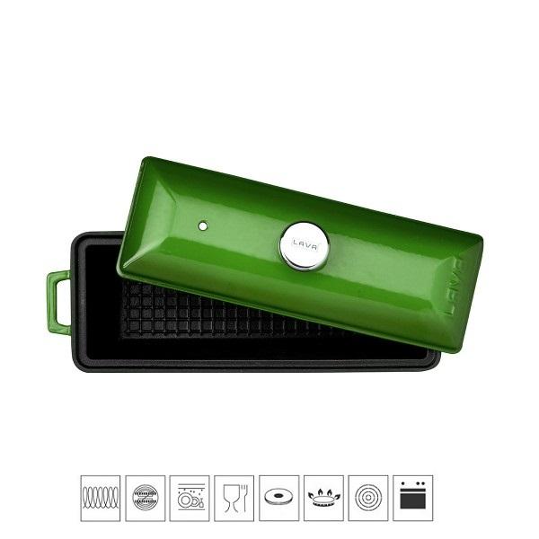 LAVA METAL Litinová terina - zelená