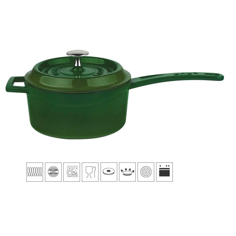 LAVA METAL Litinový rendlík 16 cm - zelený