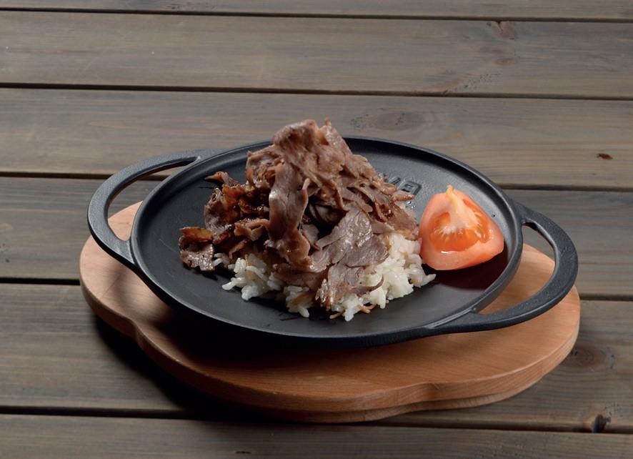 """LAVA METAL Litinová pánev """"wok""""  20cm s dřevěným podstavcem"""