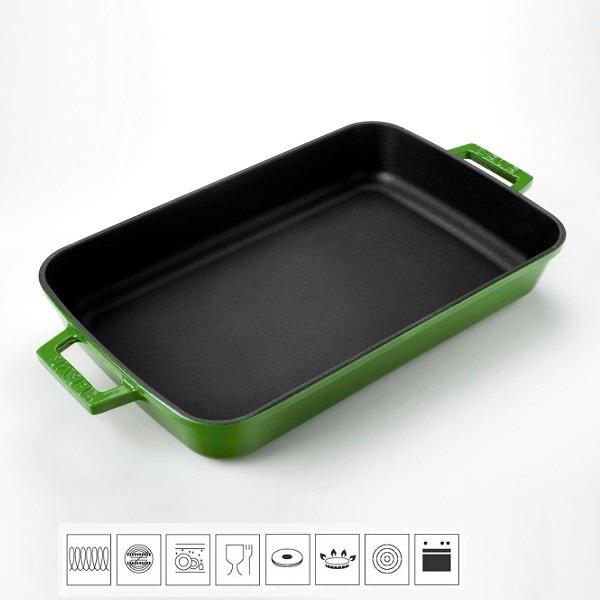 LAVA METAL Litinový pekáč 22x30cm - zelený