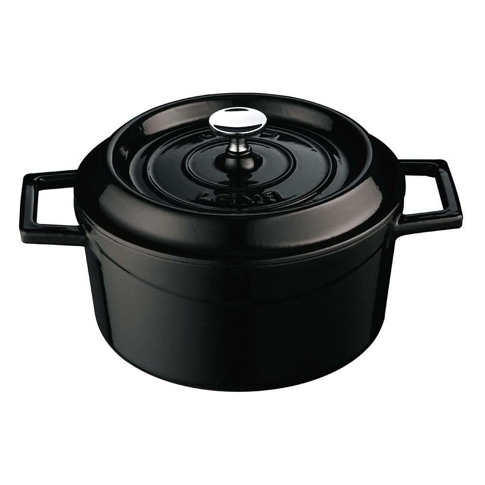 LAVA METAL Litinový hrnec kulatý 20 cm - černý