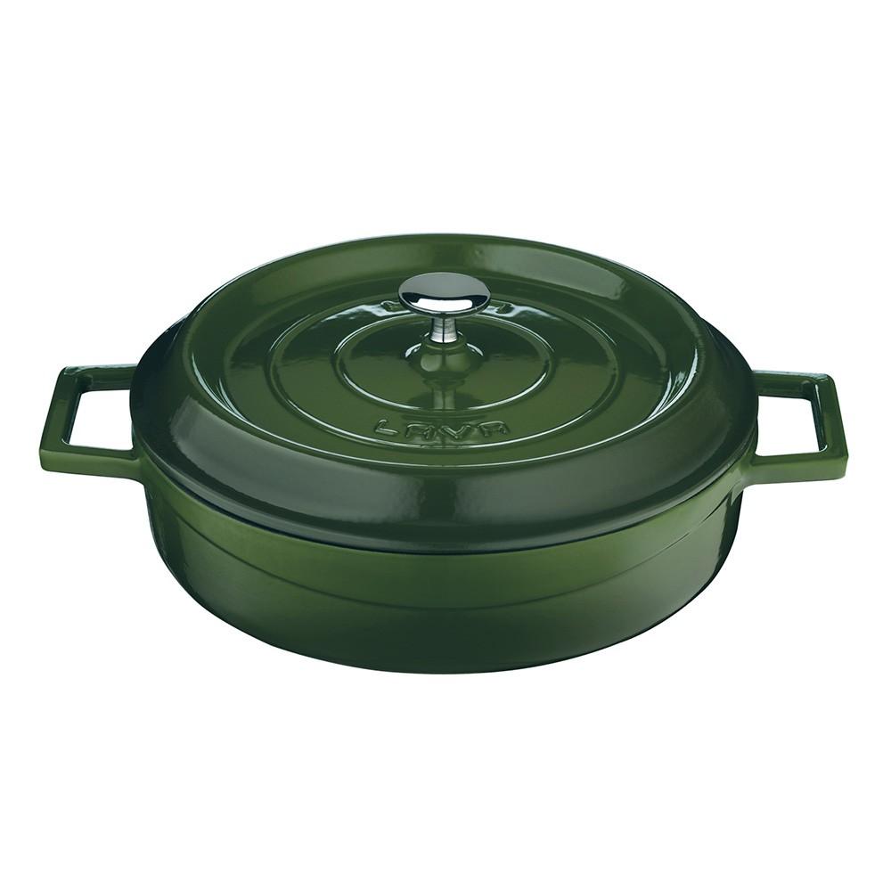 LAVA METAL Litinový hrnec nízký kulatý 32 cm - zelený