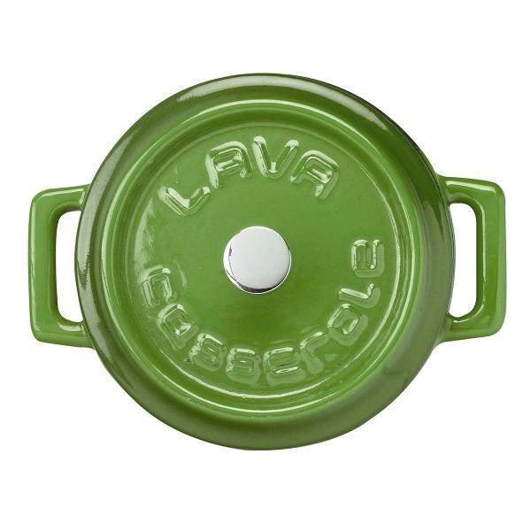 LAVA METAL Litinový mini hrnec kulatý 10 cm - zelený