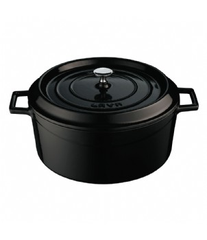 LAVA METAL Litinový hrnec kulatý 32 cm - černý