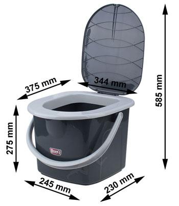 Branq WC kbelík 15,5l - černý