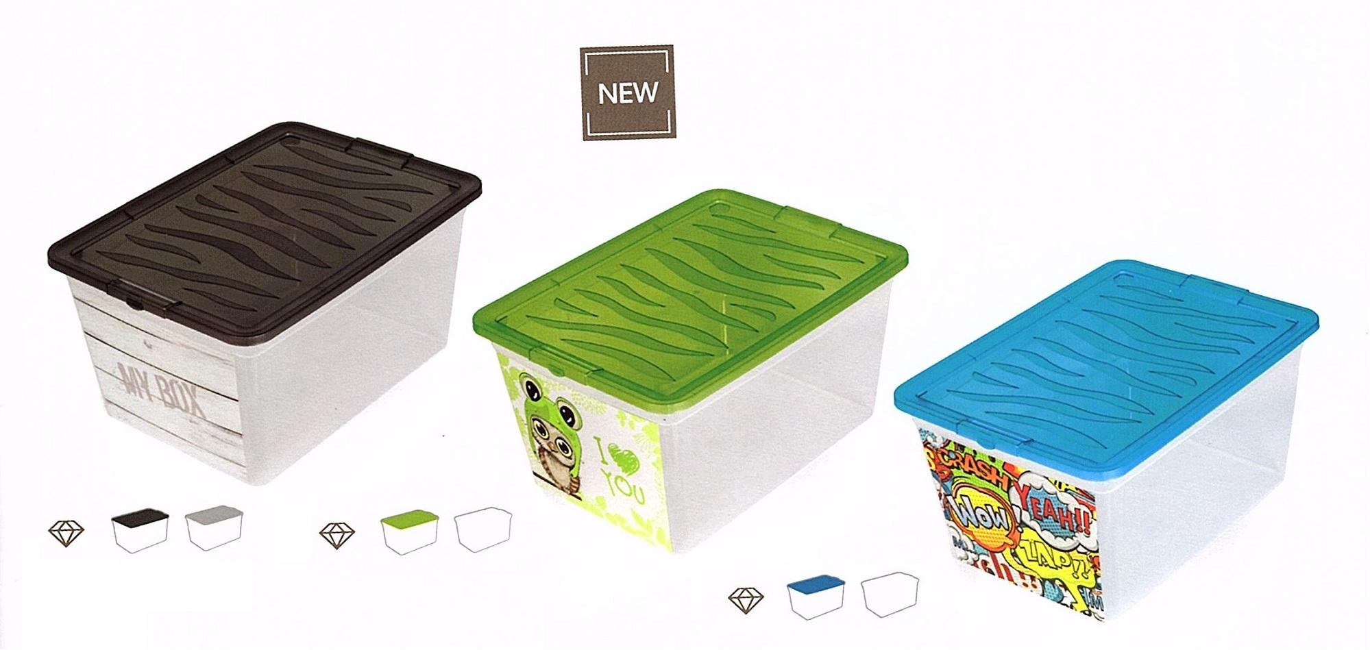 Plastový kontejner s víkem Z-BOX 30l