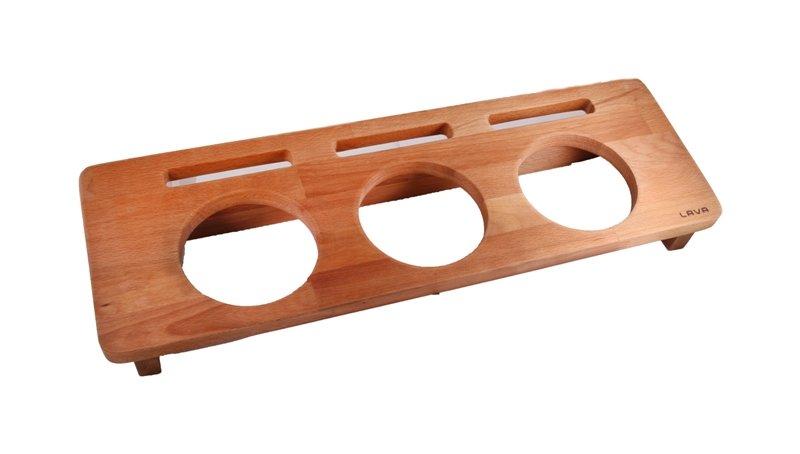 LAVA METAL Dřevěný stojan na 3x hrnec průměr 10 cm