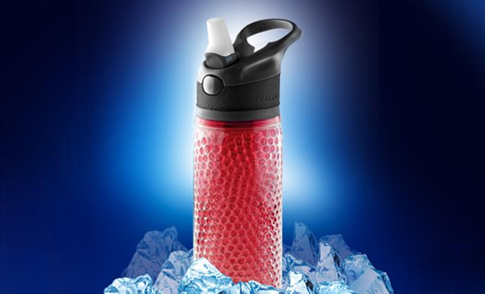 ASOBU Chladící láhev DEEP FREEZE 600ml červená