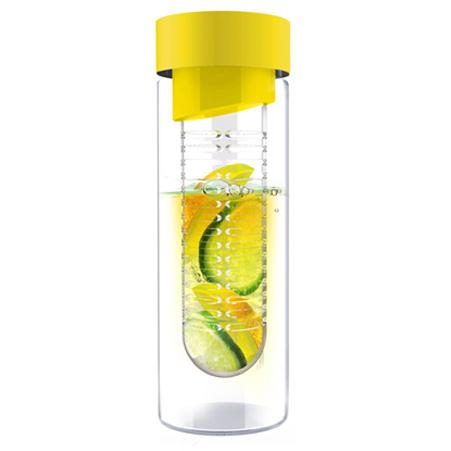 ASOBU Skleněná láhev FLAVOUR IT 480ml žlutá s infusérem