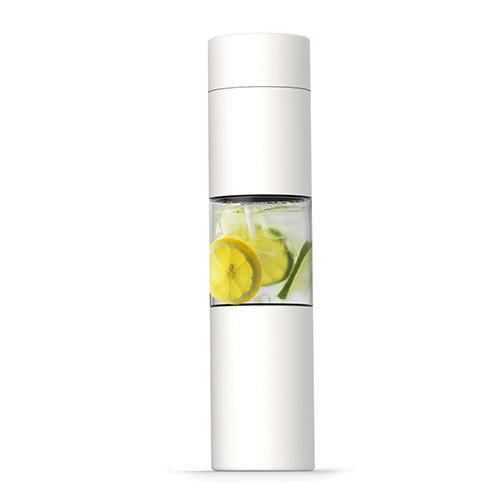 ASOBU Elegantní bílá láhev s infusérem 460ml