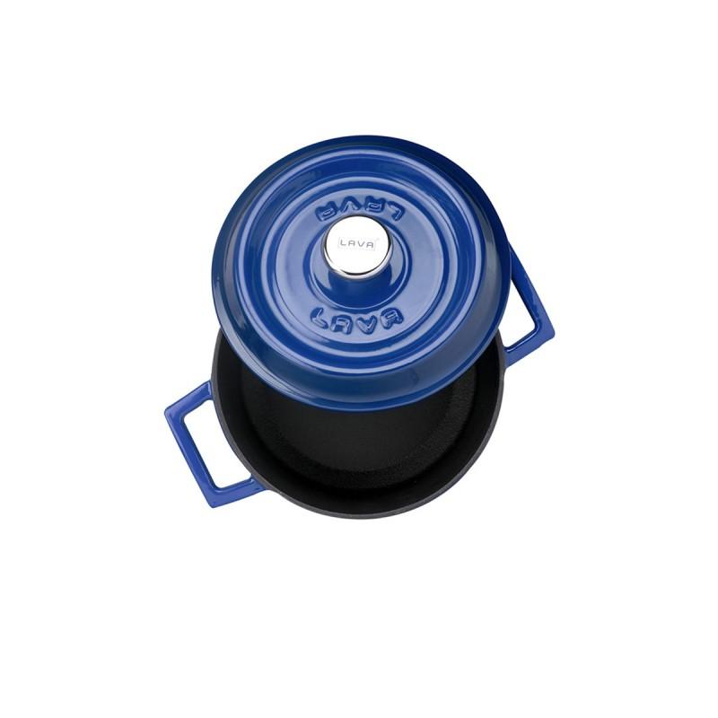 LAVA METAL Litinový hrnec kulatý 18cm - modrý