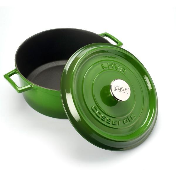 LAVA METAL Litinový hrnec kulatý 18cm - zelený