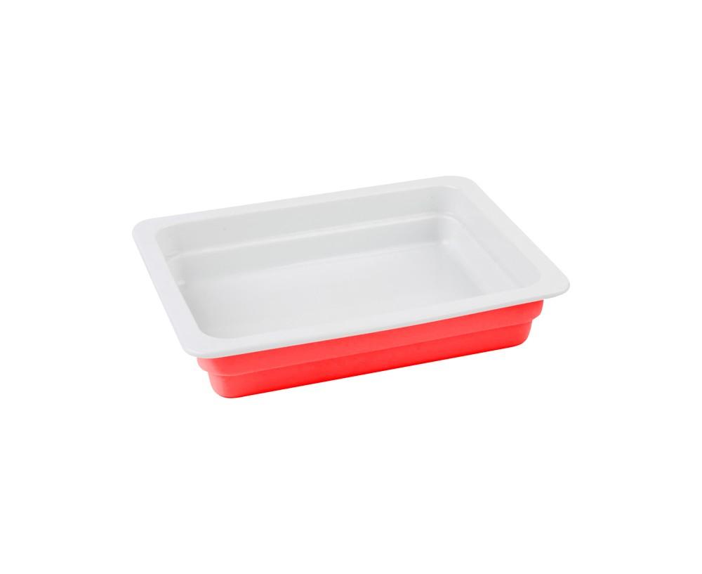 LAVA METAL Litinový talíř 33x26 cm - červený