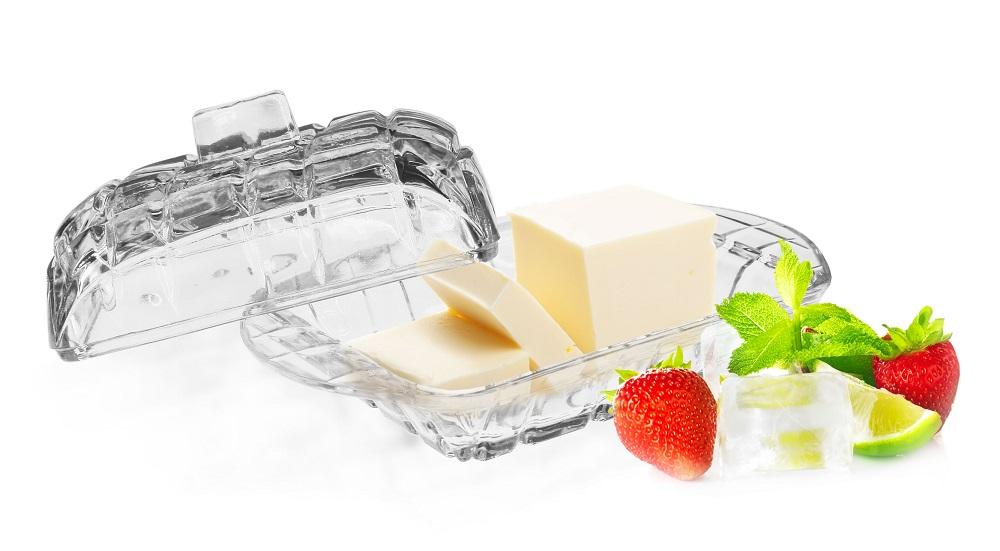 GLASMARK Skleněná dóza na máslo (máslenka)