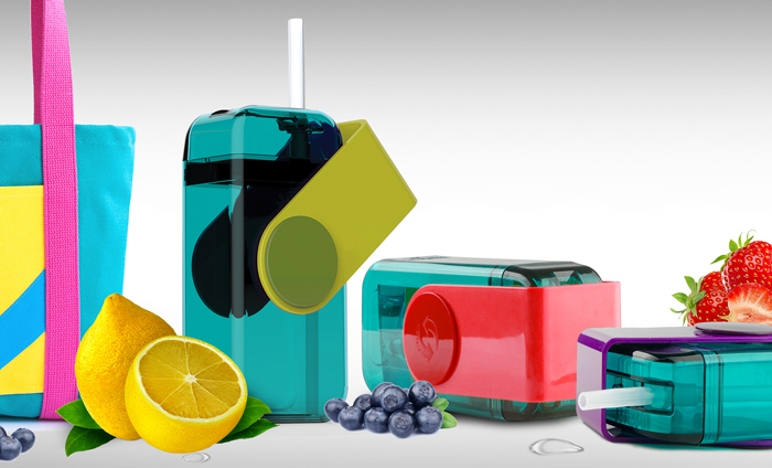 ASOBU Juicy drink box JB300 290ml červený