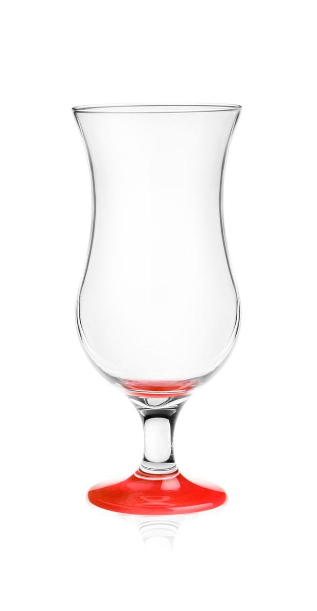 GLASMARK Koktejlová sklenice - 420ml, červený podstavec