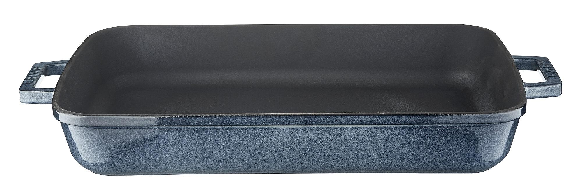 LAVA METAL Litinový pekáč 26x40 cm - šedá majolika